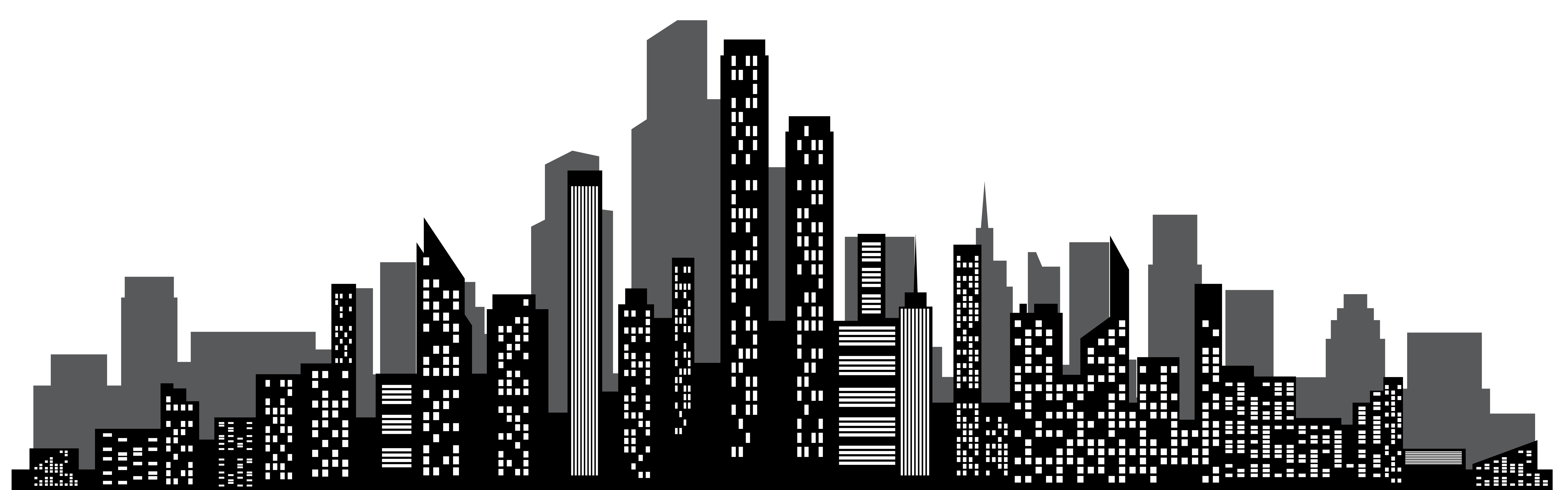 8000x2498 Collection Of Free Nyc Drawing Cityscape Download On Ui Ex