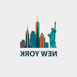 300x300 Drawing Of Nyc Skyline New York City Vector Drawing Sketch Stock