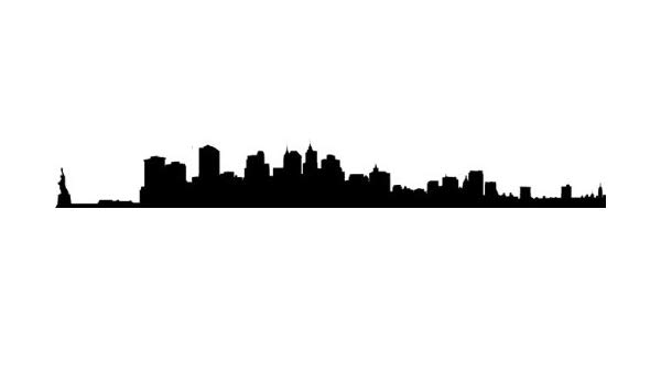 600x350 Huge Collection Of 'ny Skyline Silhouette Stencil' Download More