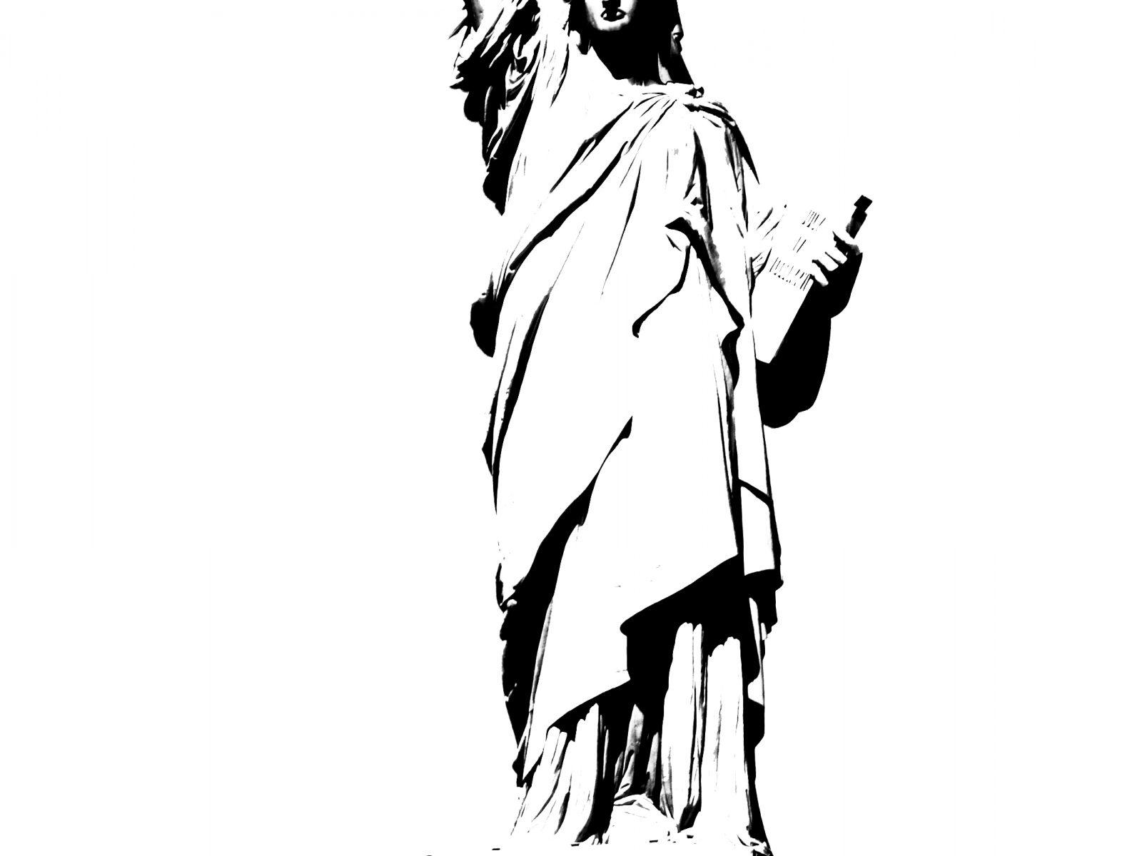 1600x1200 Statue Of Liberty Pencil Sketch Drawing Impressiveree Download