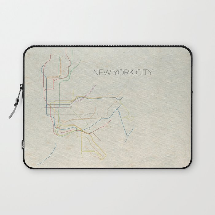700x700 Minimal New York City Subway Map Laptop Sleeve