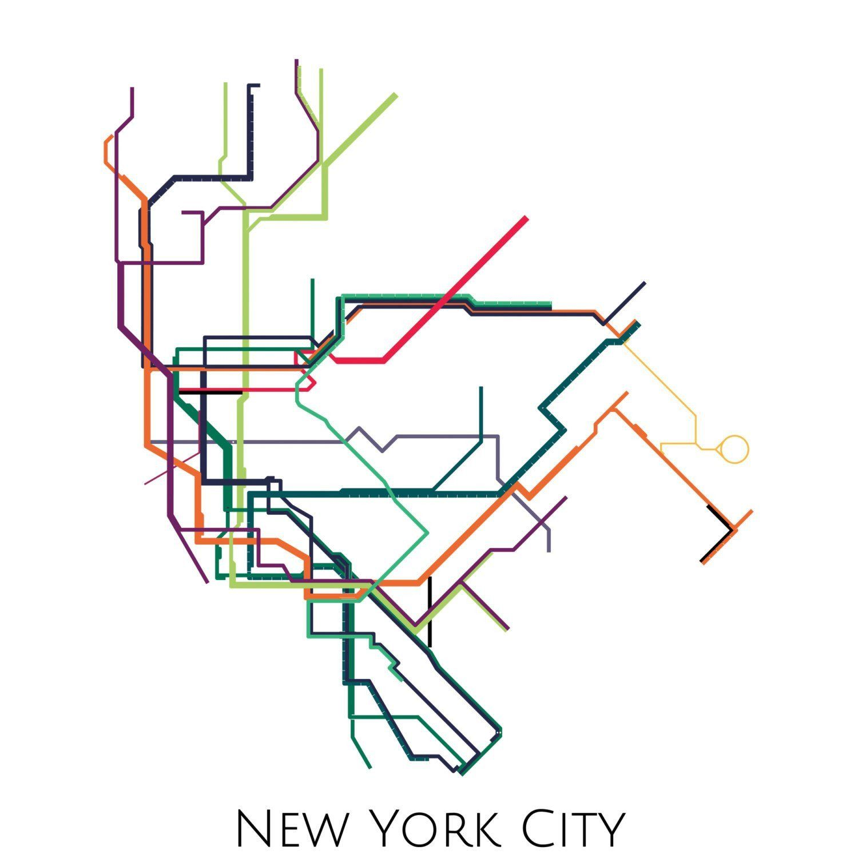 1500x1500 New York Metro Map Crafts And Decorating Subway Map, New York