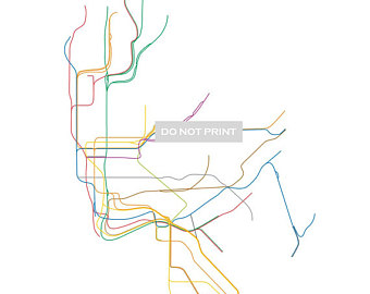 340x270 Nyc Subway Map Etsy