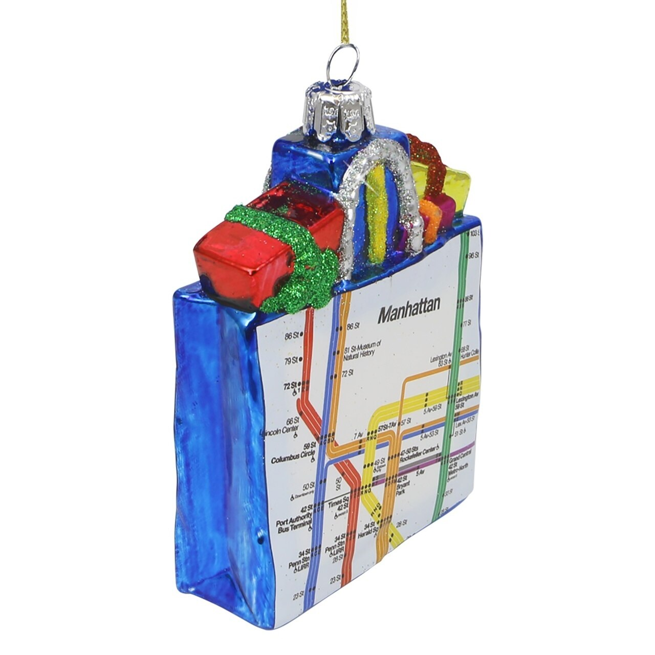 1280x1280 Glass Mta Subway Map Bag Inch