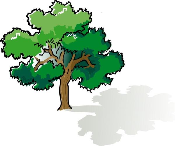 600x503 Colored Oak Tree Free Vector In Open Office Drawing