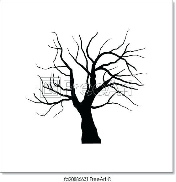 561x581 Dead Oak Tree Clipart Christmas Clip Art Black Lonely Nature Stock