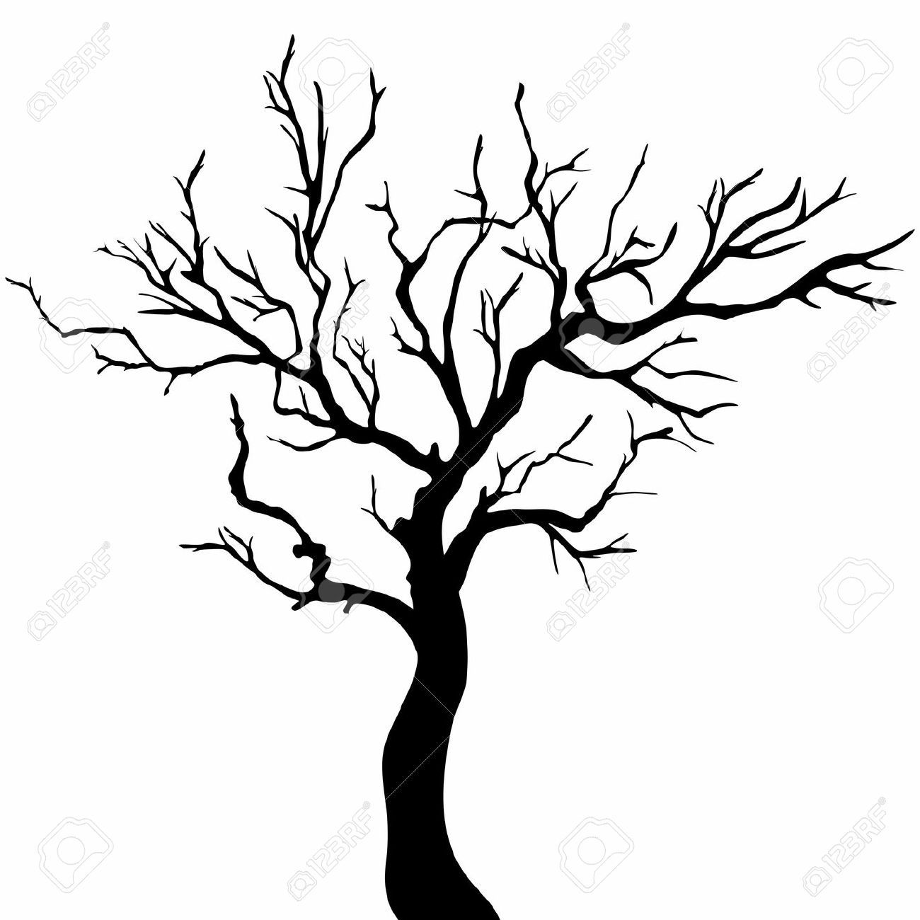1300x1300 Drawing Vector Oak Tree For Free Download