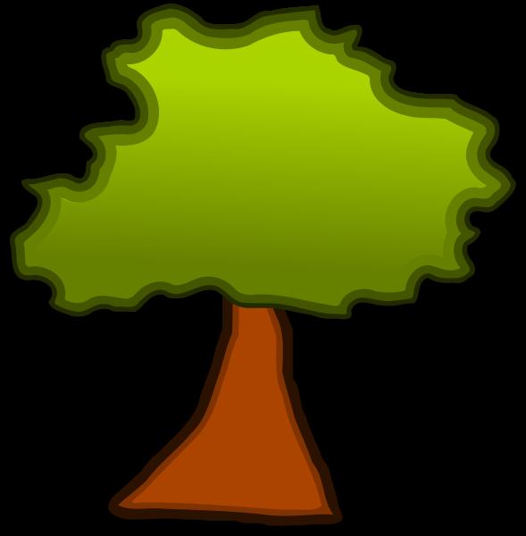 589x600 Old Oak Tree Clipart
