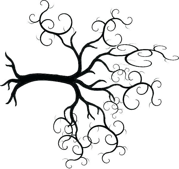 600x565 oak tree outline live oak oak tree silhouette outline