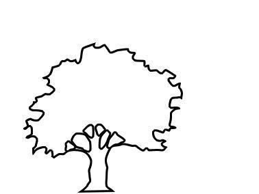 378x284 oak tree outline kids klub tree outline, tree logos, tree trunks