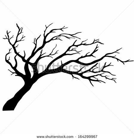 450x470 oak tree silhouette pen ink drawing oak tree silhouette