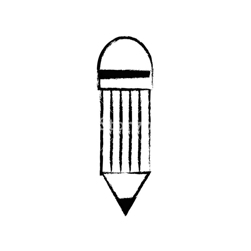 1000x1000 Figure Pencil Object With Eraser To Drawing Design Vector