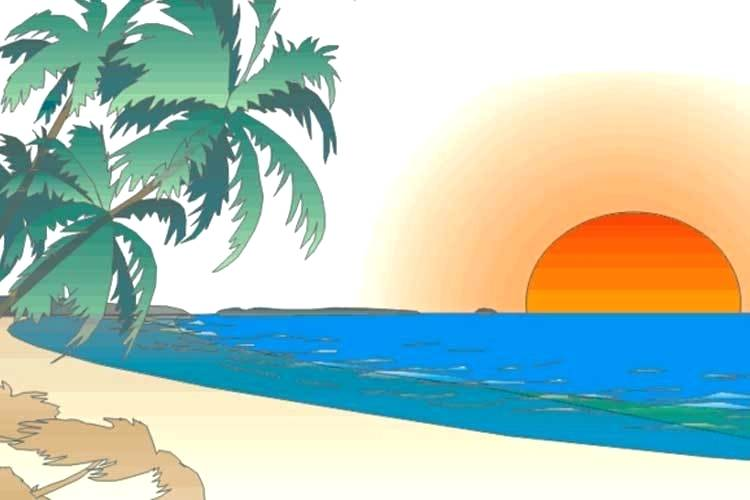 750x500 how to draw a sunset draw sunset over ocean