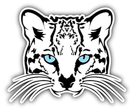 466x388 ocelot cat face art decor bumper sticker x