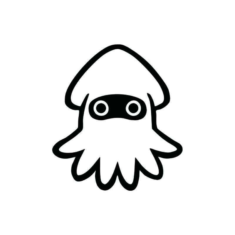 800x800 drawing of a squid squid octopus vector drawing doodle drawing