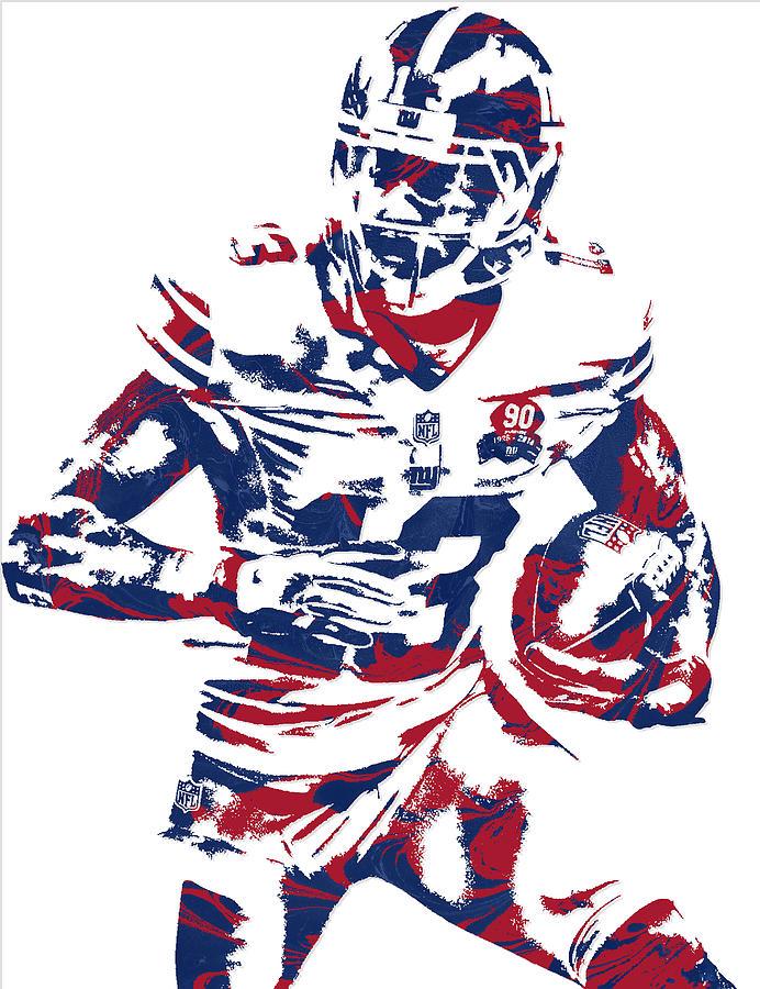 692x900 Odell Beckham Jr New York Giants Pixel Art Mixed Media