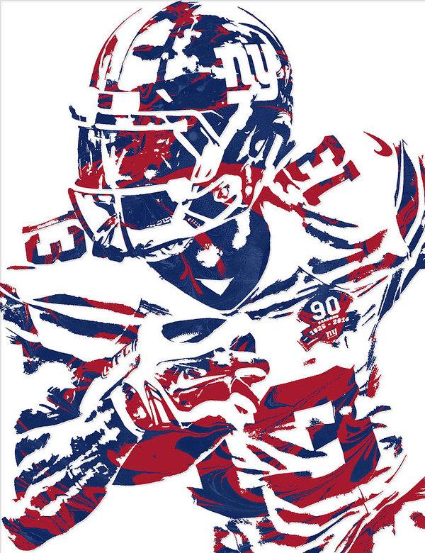 600x780 Odell Beckham Jr New York Giants Pixel Art Art Print