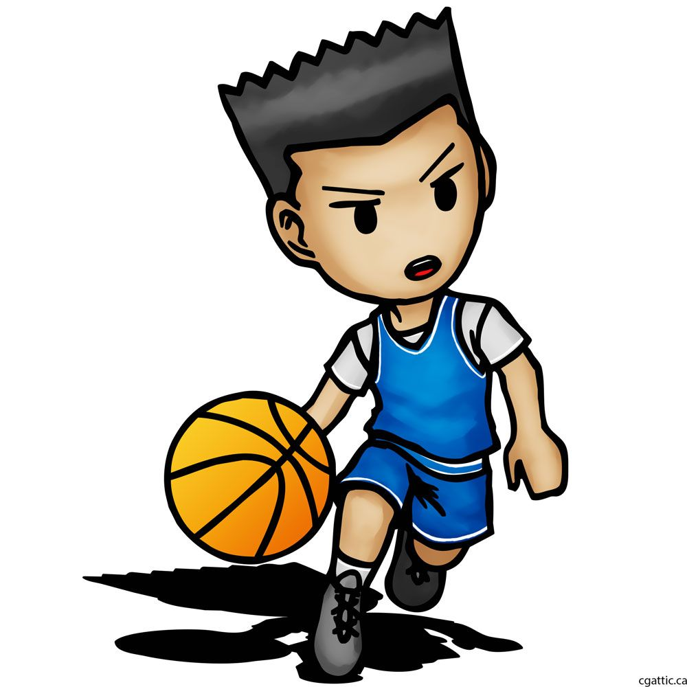 1000x1000 Cartoon Basketball Player Drawing In Steps With Photoshop