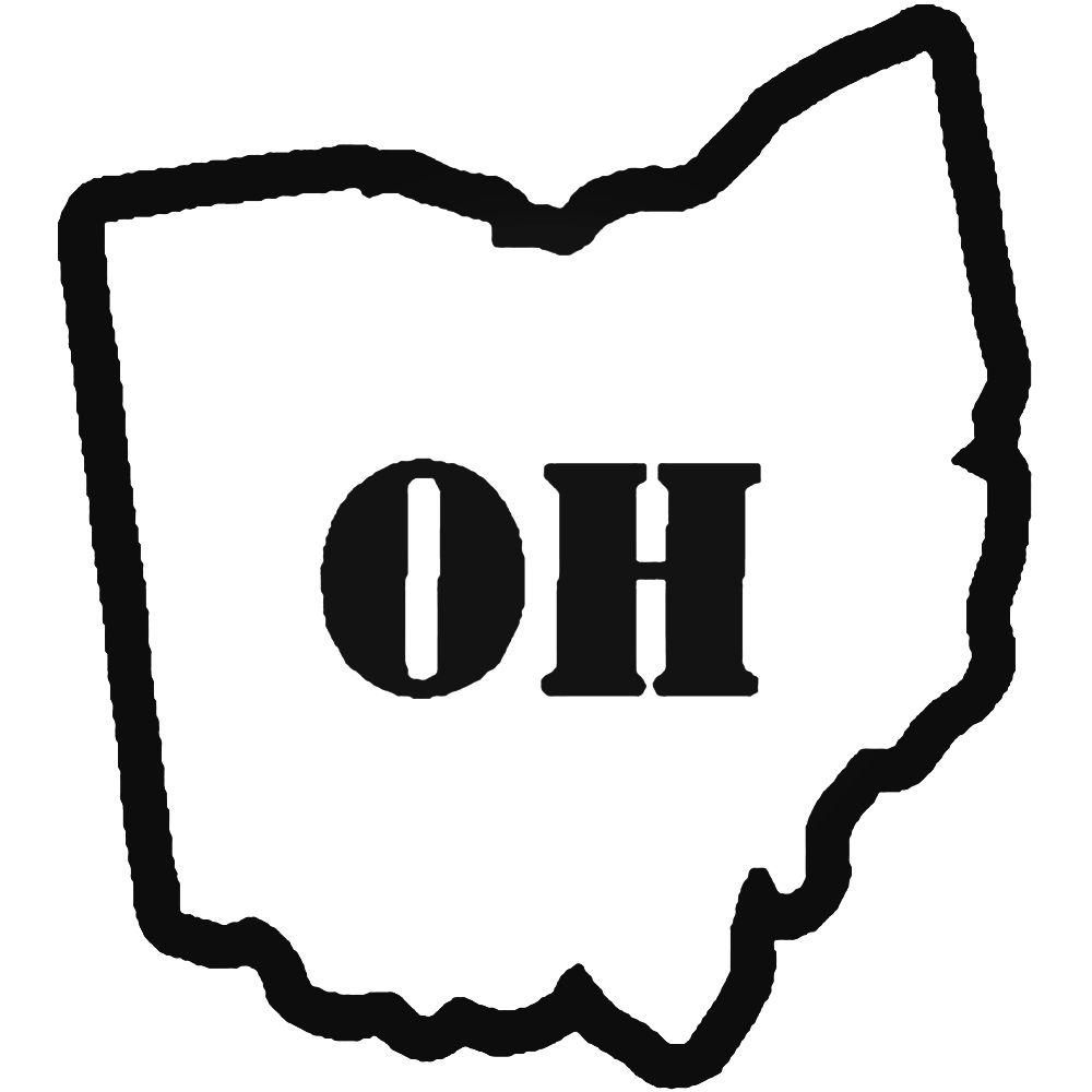1000x1000 Home State Ohio Decal Sticker