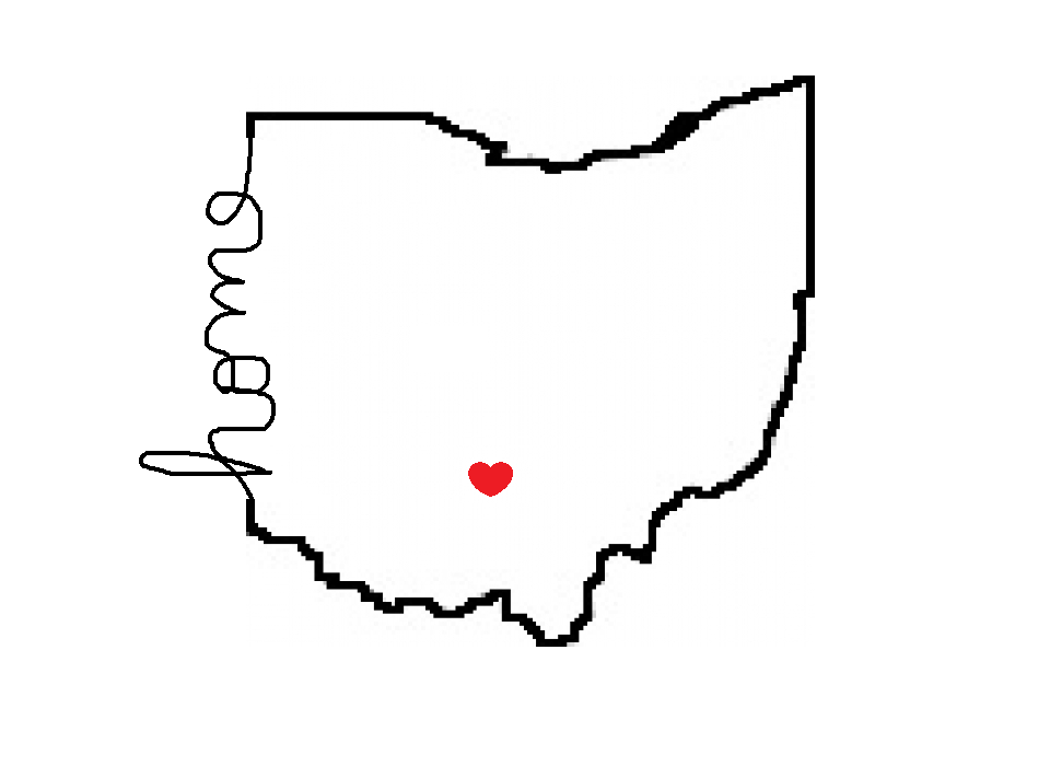960x700 My Drawing Of My Home State Tattoo Idea, But With The Heart Over