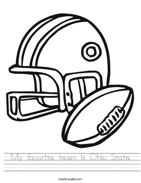 468x605 My Favorite Team Is Ohio State Worksheet
