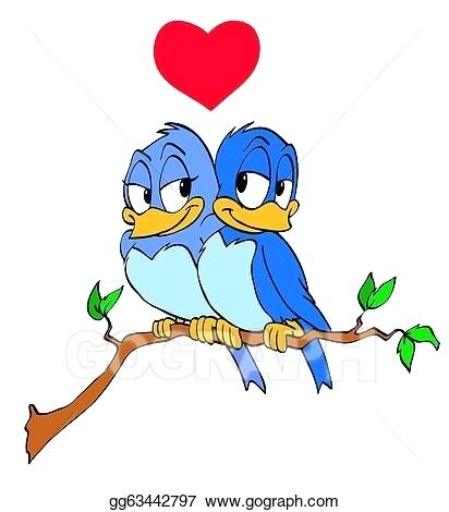 412x470 love bird drawing love birds heart love birds drawing with oil