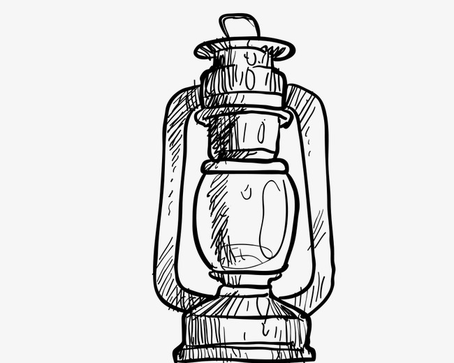 650x520 hand painted l lamp clipart, hand painted material, oil lamps