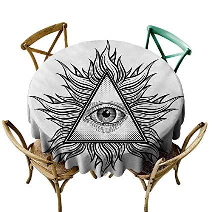 425x425 funkky elegance engineered tablecloth eye triangle