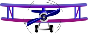 300x116 Free Biplane Clipart Image Airplane Clipart