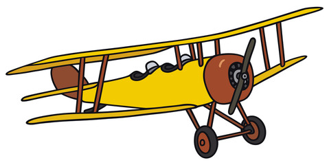 479x240 Hand Drawing Of An Old Biplane