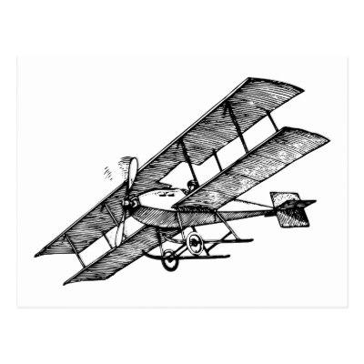 400x400 Vintage Aviation Art Postcard
