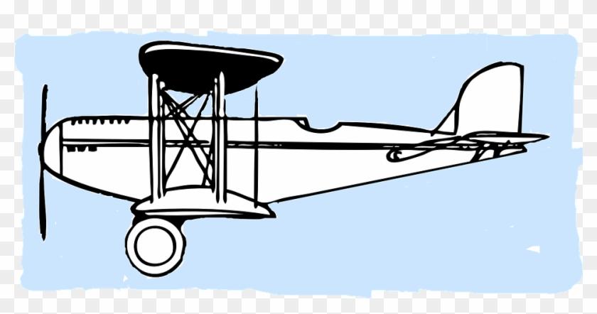 840x442 Airplane Propeller Old School Pilote Sky White