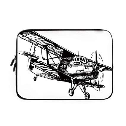 425x425 Vintage Airplane Decor Laptop Sleeve Bag,neoprene