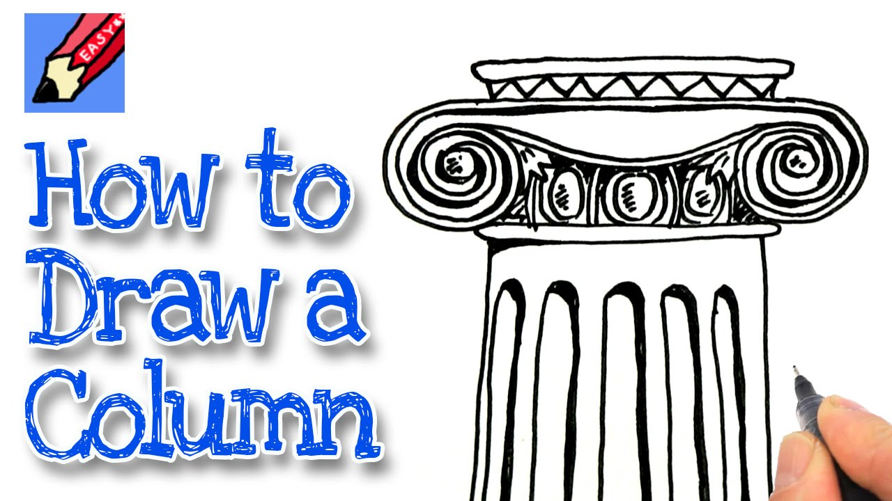 1280x720 How To Draw An Ionic Column Real Easy