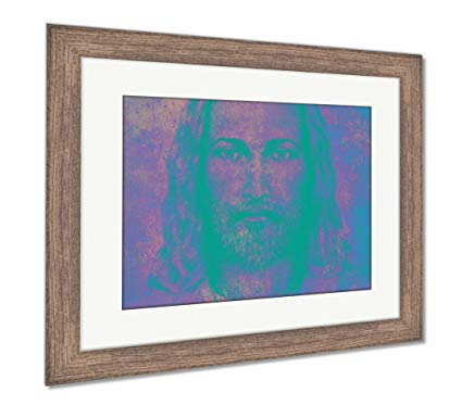 425x373 Ashley Framed Prints Pencils Drawing Jesus On Vintage