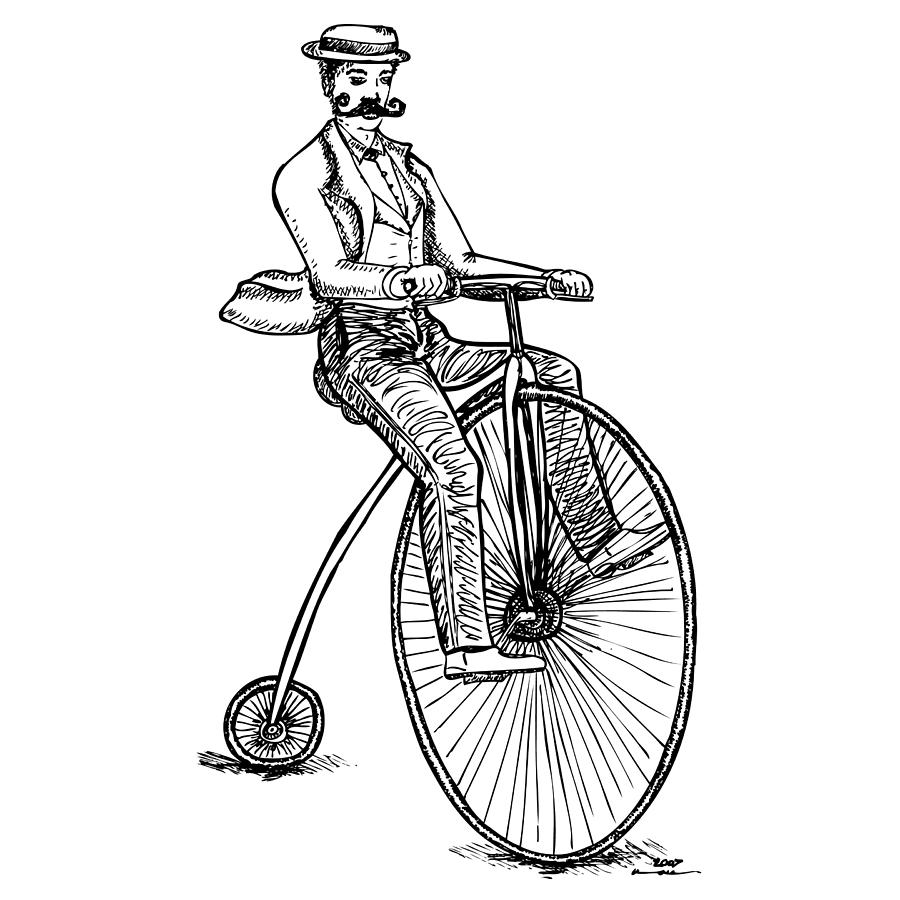 900x900 Boneshaker Velocipede Bicycle Drawing