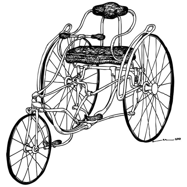 600x600 Old Bicycle Drawings Fine Art America