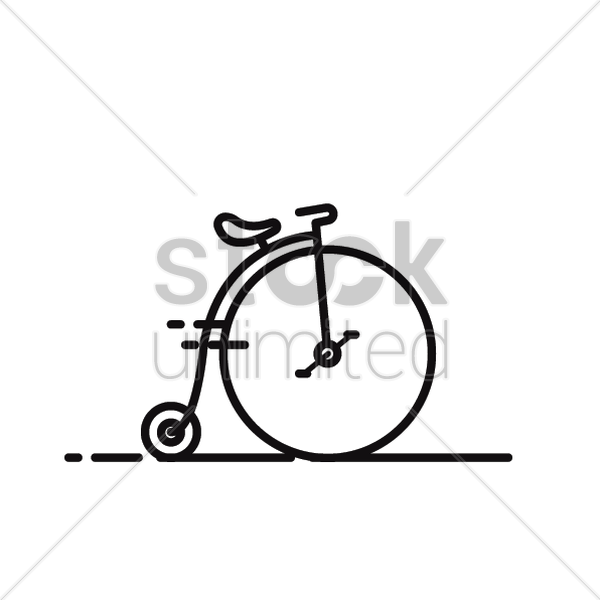 600x600 Old Bicycle Vector Image