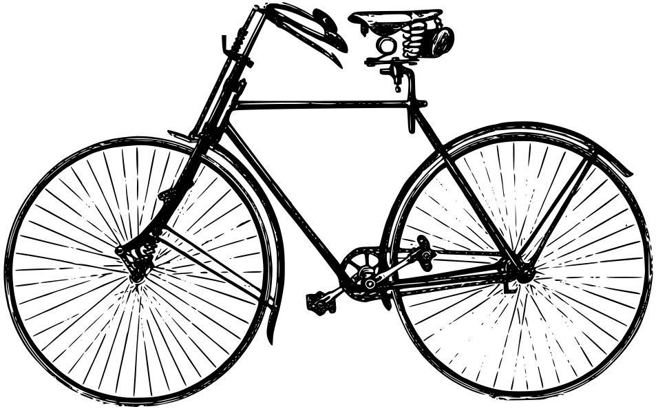 953x594 Old Fashioned Bike Clipart