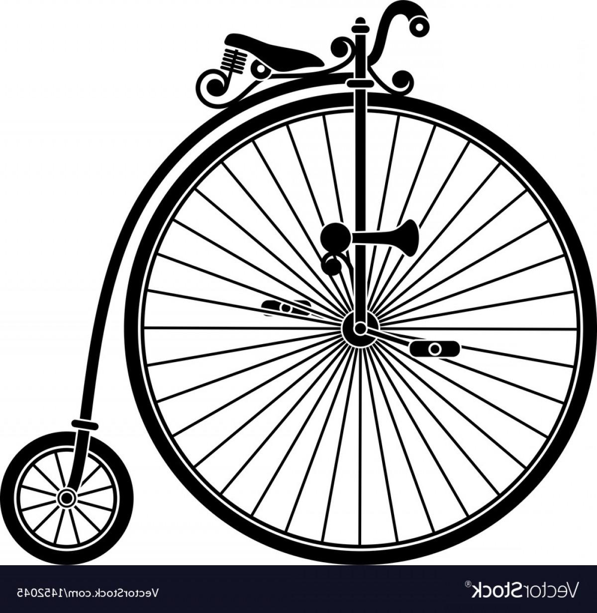 1200x1231 Penny Farthing Antique Vintage Bicycle Vector Lazttweet