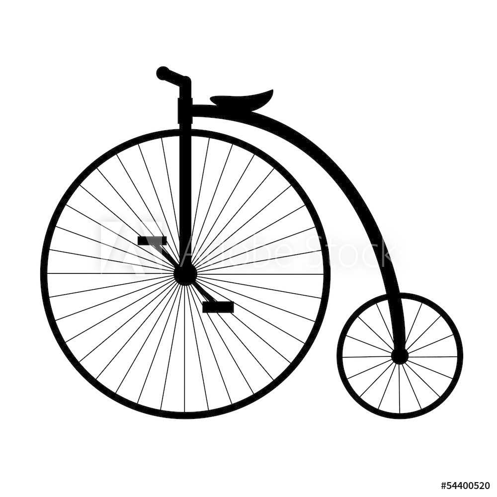 1000x1000 Photo Art Print Penny Farthing Silhouette Of Old Bicycle