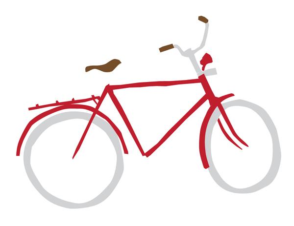 600x463 Retro Bicycle Drawing Jonas Claesson