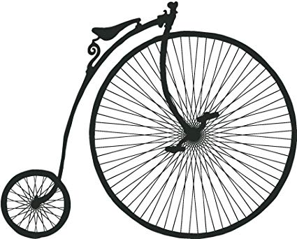 425x342 Penny Farthing High Wheel Old Bike Silhouette Vinyl