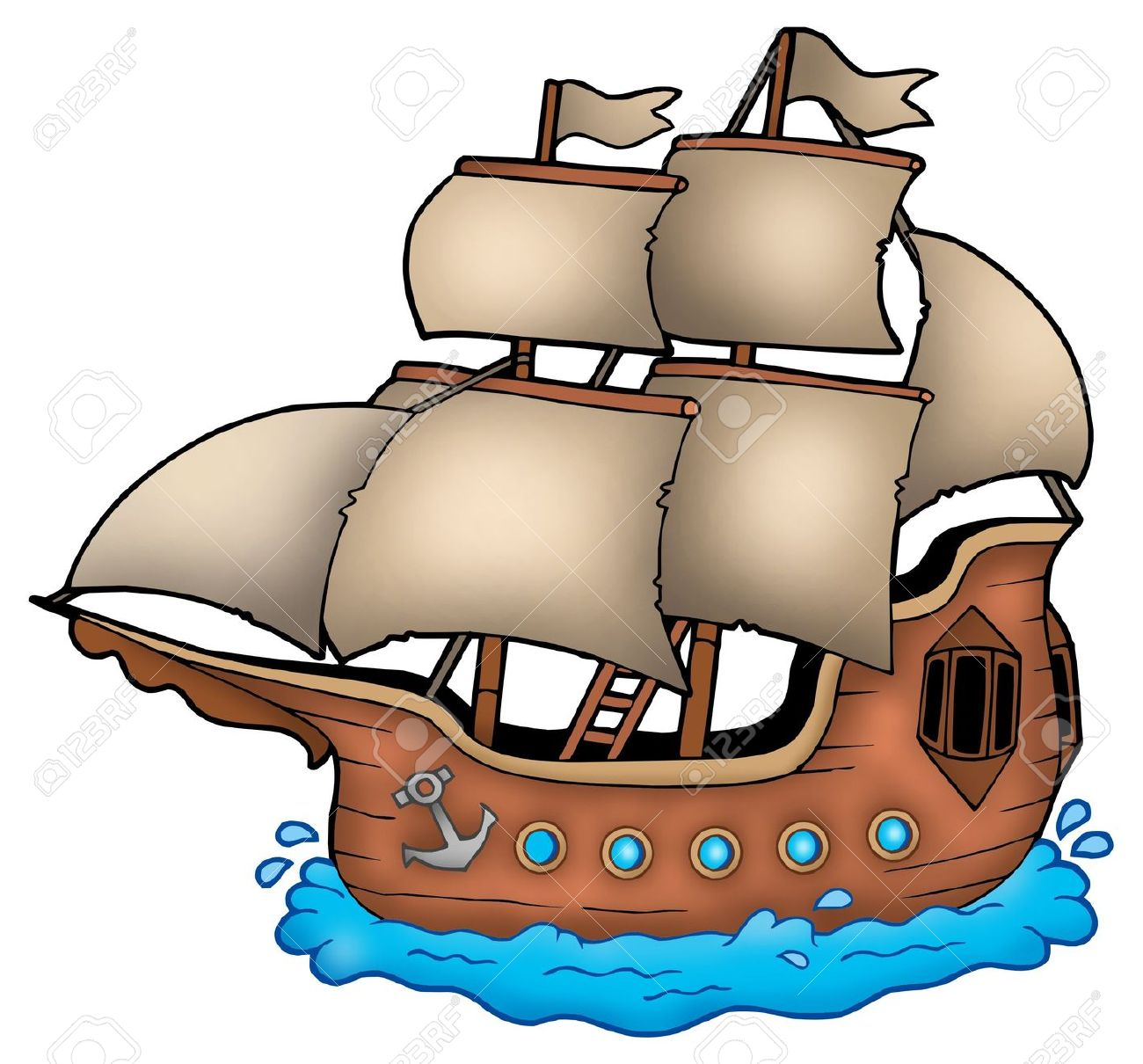 1300x1210 Old Ship Clipart
