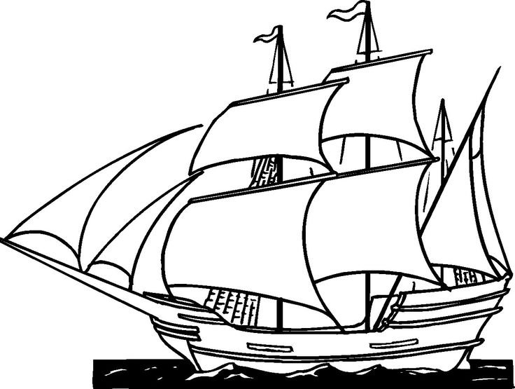 736x555 Pirate Ship Clipart