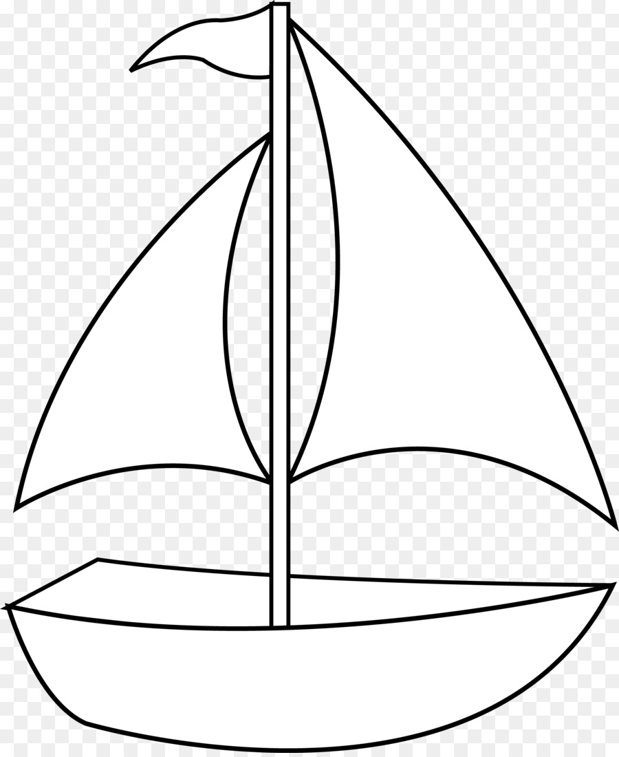 900x1100 Simple Boat Drawing Clip Art Transportation Black And White