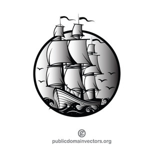 300x300 Sailboat Borders Clip Art