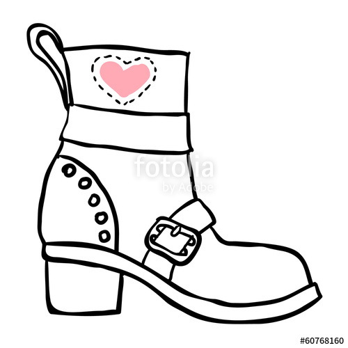 500x500 Old Boot Vector Sketch Stock Image And Royalty Free Vector