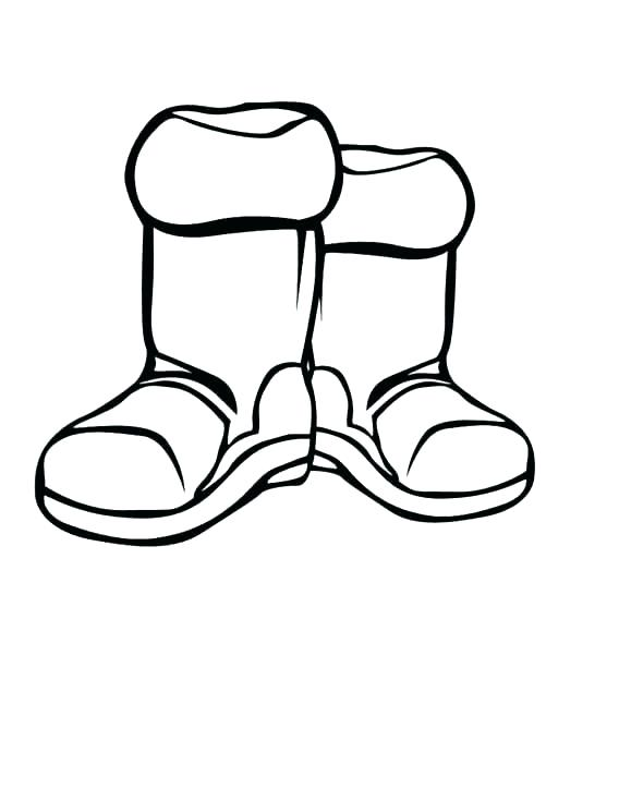 568x735 Boot Coloring Pages For Christmas