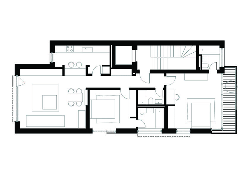 842x595 Gallery Of Residential Building In Bucharest Melon Design Studio